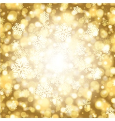 Christmas light background with snowflakes vector image vector image