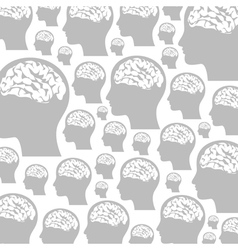Head a background vector image vector image