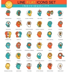 Human personality and individuality vector image