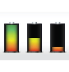 battery gradient vector image vector image