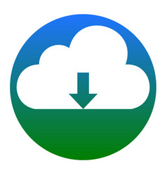 cloud technology sign white icon in vector image vector image