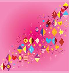 fun design elements vector image vector image