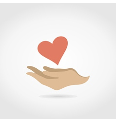 Heart in a hand3 vector image