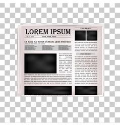 Newspaper headline vector image