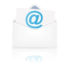 Open envelope with email vector image vector image