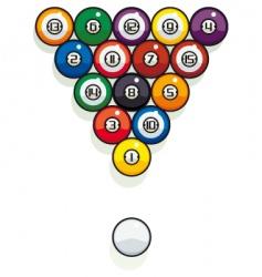 pool billiard balls vector image