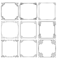 Set of different decorative frames vector image vector image