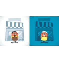 Shopkeeper vector image vector image