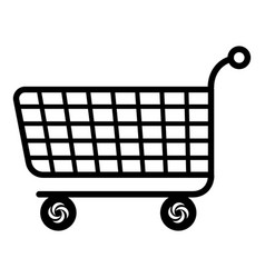 trolley icon simple black style vector image