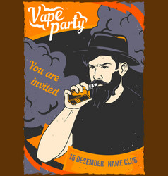 a man holding a vape in his hand vector image
