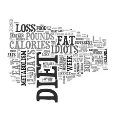 A review of the fat loss idiots diet text word vector