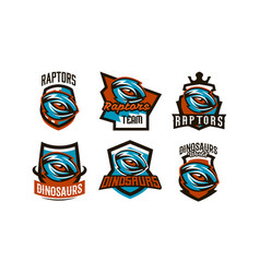 a set emblems badges stickers logos of vector image