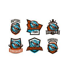 A set of emblems badges stickers logos vector
