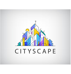 abstract real estate logo vector image