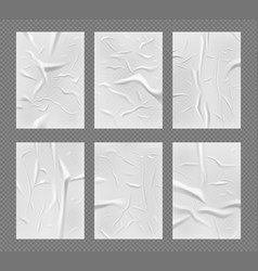 ads realistic glue paper crumpled texture of vector image