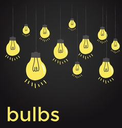 Bare bulbs hanging on strings vector image