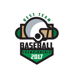 baseball championship 2017 best team logo vector image