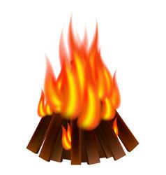 bonfire icon realistic style vector image