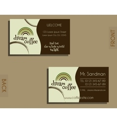 Brand identity elements - visiting card template vector image
