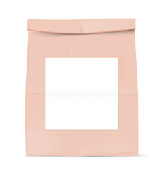 brown bag with white sticker vector image