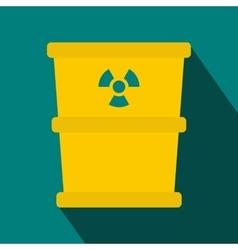 Bucket for hazardous waste icon flat style vector