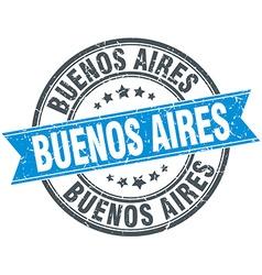 Buenos Aires blue round grunge vintage ribbon vector