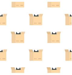 Cat in a cardboard box pattern seamless vector