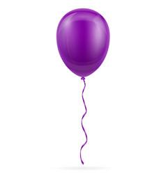 celebratory purple balloon pumped helium with vector image