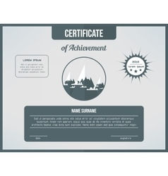 Certificate template for achievement Gray vector image