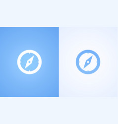 compass on blue and white background vector image