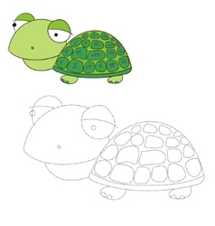 Connect the dots game turtle vector