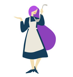 cook or housewife cooking classes woman with ladle vector image