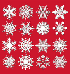 crystal snowflakes - set for designers vector image