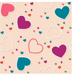cute seamless pattern background valentine heart vector image