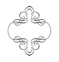 decorative ribbon border frame vector image