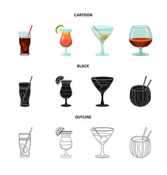 Design of drink and bar logo collection of vector