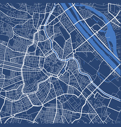 Detailed map poster vienna city linear print vector