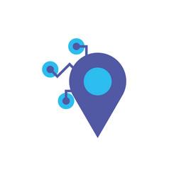 Digital gps mark icon flat design vector