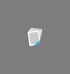 digital paper sheet logo icon vector image