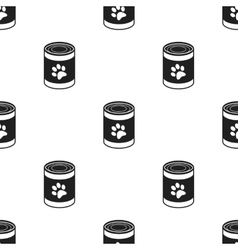 Dog food icon in black style for web vector