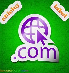 Domain COM icon sign Symbol chic colored sticky vector