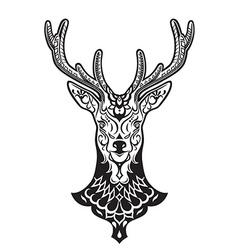 Ethnic ornamented deer vector
