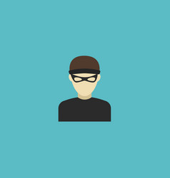 flat icon criminal element of vector image