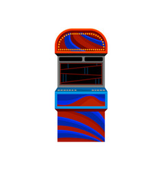 flat icon of red-blue arcade video game vector image