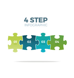 four step puzzle infographic vector image