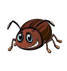 Funny beetle vector