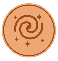 Galaxy stars bronze coin vector