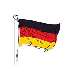 German flag continuous line vector