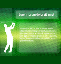 Golfer silhouette over abstract background with vector