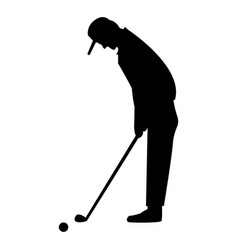 Golfer the black color icon vector
